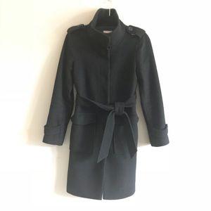 Loft Black long Wool Coat Xs